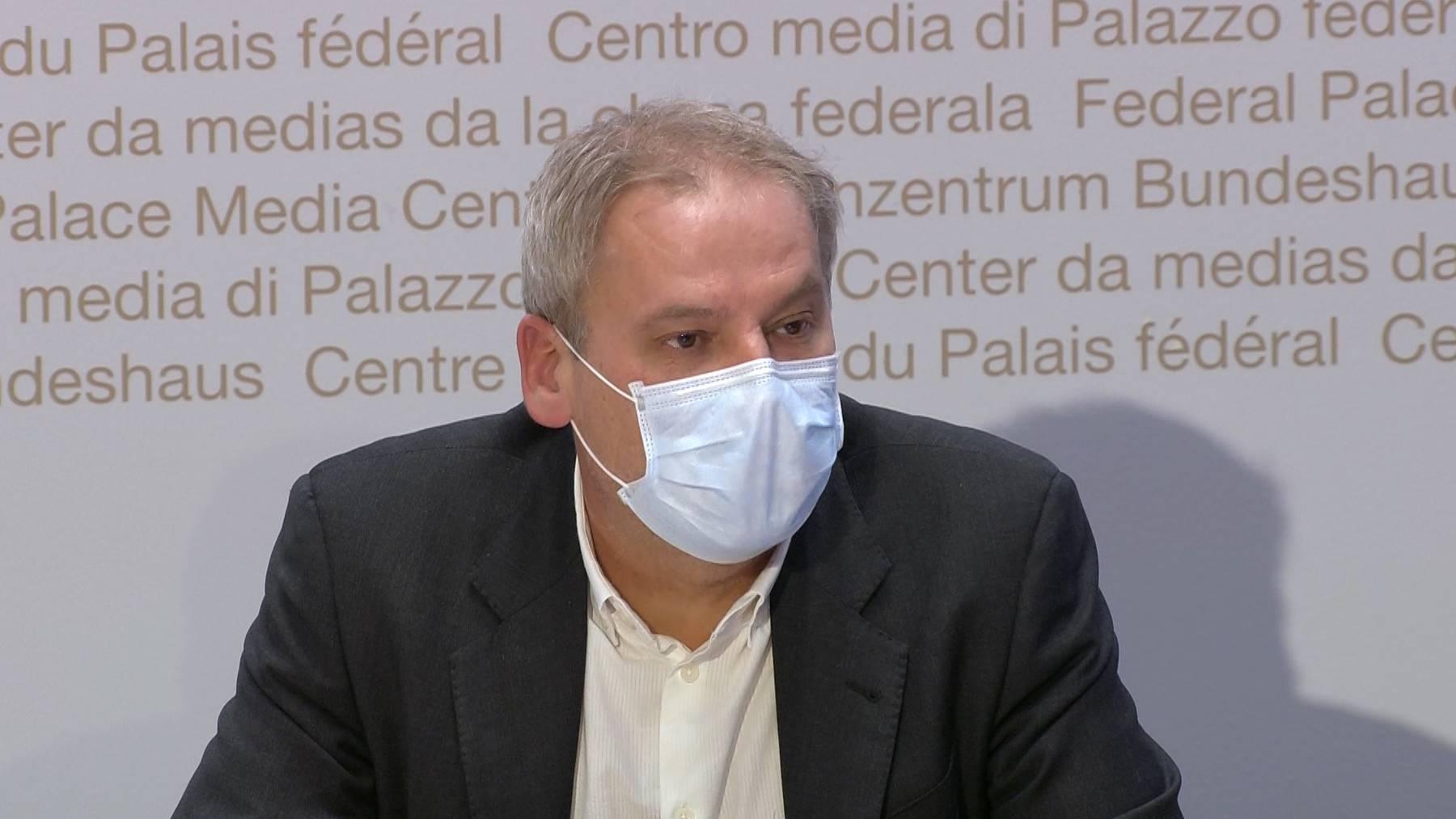 Patrick Mathys und die anderen BAG-Experten nahmen am Dienstag an einer Medienkonferenz Stellung.