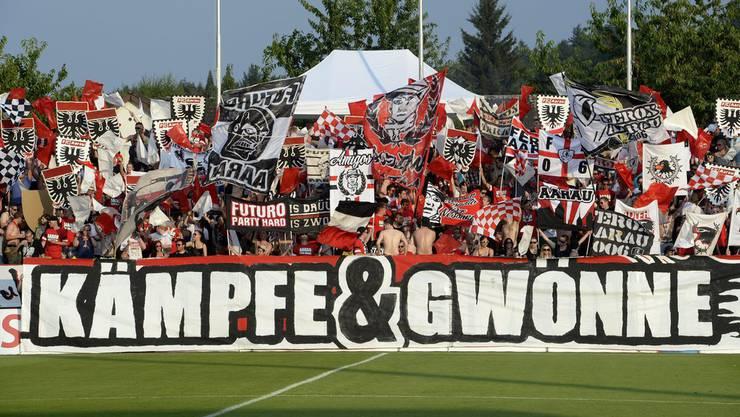 Die Szene Aarau verzichtet bis auf Weiteres auf die optische und akkustische Unterstützung der Mannschaft
