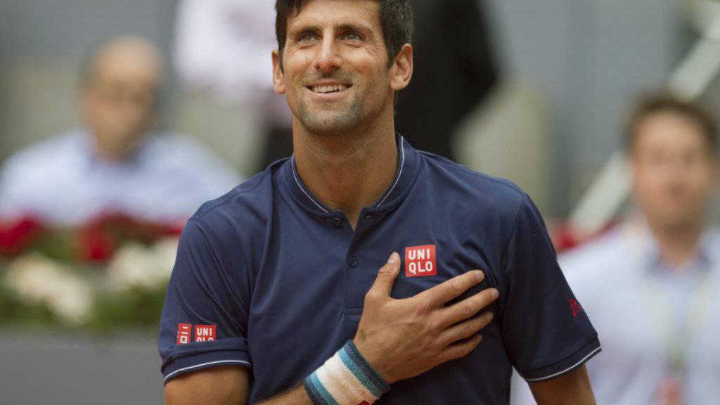 Novak Djokovic steht nach der Aufgabe von Kei Nishikori kampflos im Halbfinal
