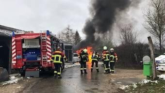 Brand in Ueken Januar 2019