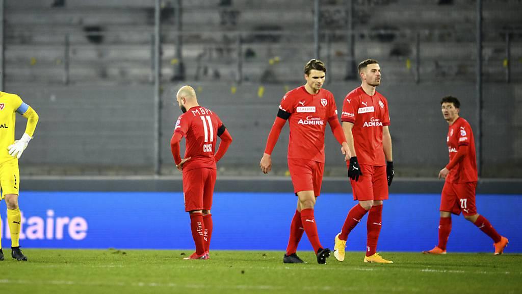Ratlosigkeit beim FC Vaduz: Der Aufsteiger steht in der Super League nicht nur wegen Corona ziemlich alleine da.