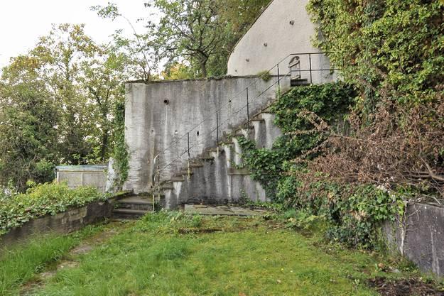 Verschiedene Ansichten der Terrassen und ehemaligen Bauten des Zoologischen Instituts.