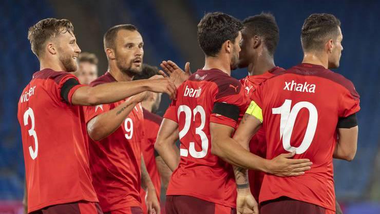 Die Schweizer sind mit dem Ergebnis zufrieden und hoffen auf mehr.