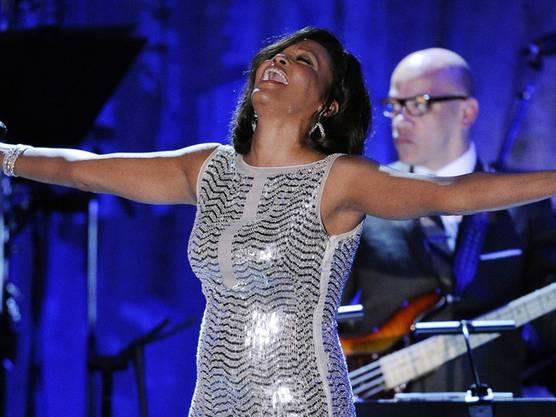 Whitney Houston vor einem Jahr bei einem Konzert