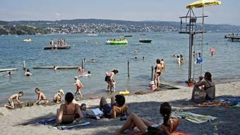 Bisher suchten 137'000 Badegäste eine Abkühlung im Strandbad Mythenquai. (Symbolbild)