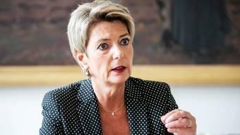 Warnt davor, die Haftungsregeln für Unternehmen auszuweiten: FDP-Justizministerin Karin Keller-Sutter, 56.
