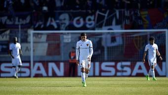 Hängende Köpfe: Der FC Basel (hier Mohamed Elyounoussi) tut sich nach dem Cup-Highlight gegen den FC Zürich (3:1) zurück im Meisterschaftsbetrieb schwer.Key