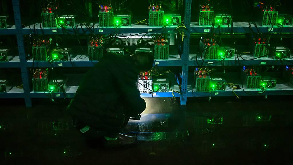 Die chinesischen Behörden haben das rechen- und energieintensive Bitcoin-Schürfen aus ihrem Land vertrieben. (Archivbild)