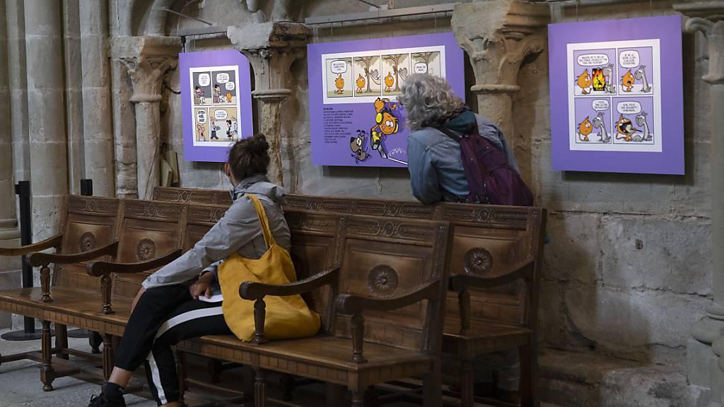 Das Comic-Festival BDFIL fand dieses Jahr auch in der Kathedrale von Lausanne statt.