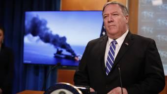 US-Aussenminister Mike Pompeo wies dem Iran die Verantwortung für die mutmasslichen Angriffe auf die zwei Tanker zu.