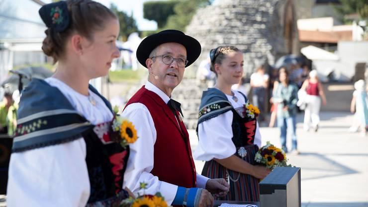 Tag der Lebendigen Traditionen im Baselbiet: SVP-Regierungsrat Thomas Weber in voller Tracht.