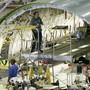 Boeing-Mitarbeiter bei der Flugzeugmontage im Werk in Seattle im US-Staat Washington. (Archivbild)