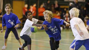 Minihandball-Turnier in der Solothurner CIS-Sporthalle