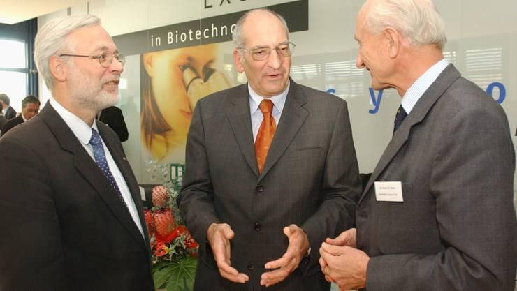 Der damalige Bundesrat Pascal Couchepin weiht den Bio-Technopark Schlieren im Jahr 2002 ein. Seltsam, aber wahr. Die offizielle Gründung erfolgte dann erst 2003.