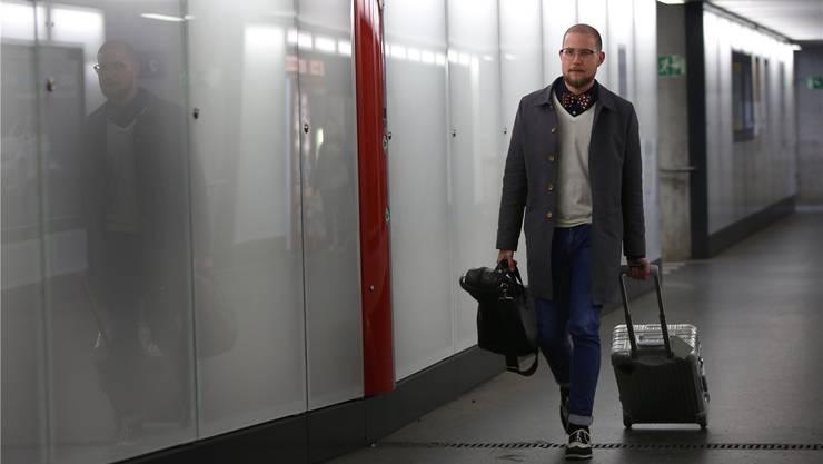 Simon Spiess macht Zwischenstation in Olten, dem Ort seines musikalischen Ursprungs.  HR. Aeschbacher