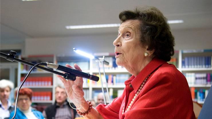 Die Volkskundlerin vermochte ihr Publikum – hier bei einer Lesung in der Zentralbibliothek Solothurn – immer zu fesseln.