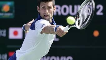 Novak Djokovic, fünfmaliger Turniersieger in Indian Wells, befand sich gegen Taro Daniel mehrheitlich in der Defensive