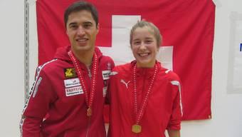 Sieger unter sich: Noa Aegerter posiert mit Elite-Meister Max Heinzer. Foto: ZVG