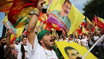 Kurden-Demo in Köln für Öcalan