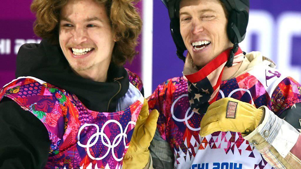 Die beiden Überflieger Iouri Podladtchikov (l.) und Shaun White