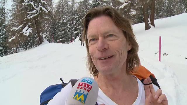 Schwitzen für die Ski-Stars: Fans ausser Puste