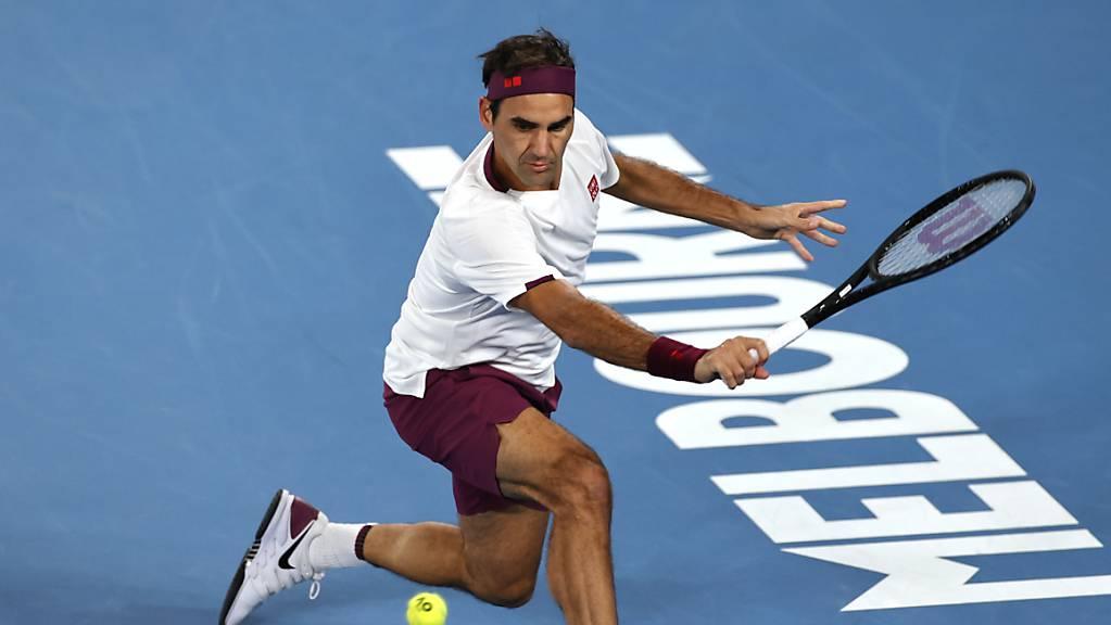Roger Federer erreichte in Melbourne zum 15. Mal die Viertelfinals und übertraf damit den bisherigen Rekordhalter John Newcombe.