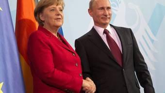 Angela Merkel und Wladimir Putin in Berlin