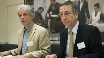 HEKS-Direktor Ueli Locher (links) und Thomas Daum, SAV-Direktor