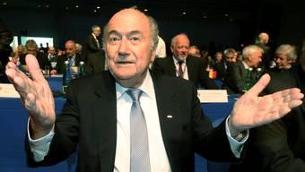 Joseph Blatter in Plauderlaune.