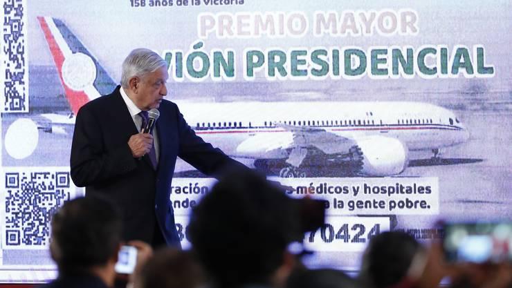 Mexikos Präsident Andres Manuel Lopez Obrador sucht Käufer für seine Luxus-Präsidenten-Maschine vom Typ Boeing 787.
