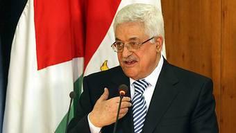 Palästinenserpräsident Mahmud Abbas in Kairo