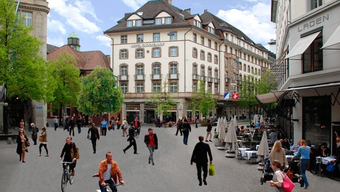 Zürcher Sihlstrasse: Flanierzonen in der Innenstadt