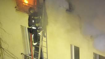 Brennende Wohnung in Frankreich (Symbolbild)