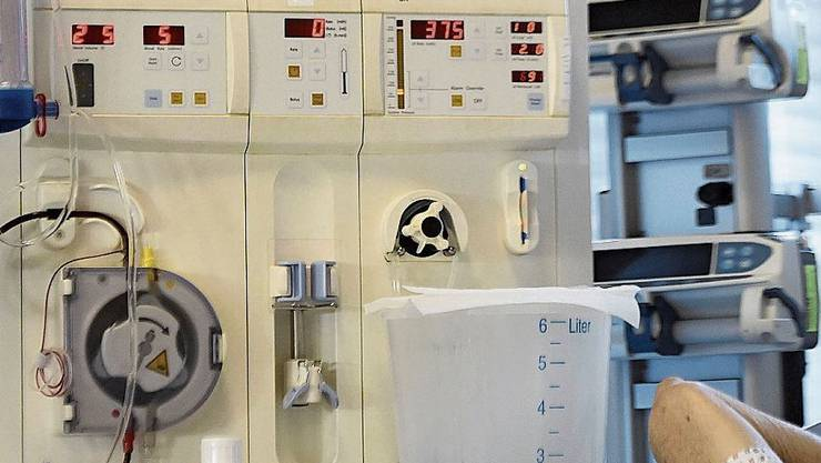 Dialyseplätze sind auch im Spital Muri stark belegt.