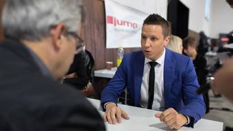 Christian Imark im Gespräch mit Urs Mathys.