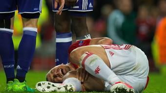 Zlatan Ibrahimovic zog sich die Verletzung im Europa-League-Viertelfinal gegen Anderlecht zu
