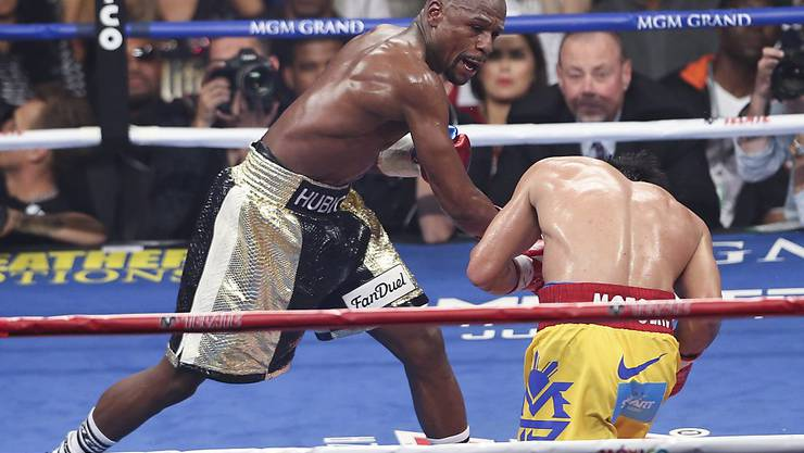 Floyd Mayweather in Aktion gegen Manny Pacquiao