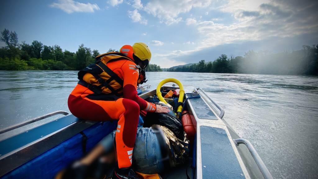 Die Rettungsaktion auf der Rhone am Sonntagmorgen verlief erfolgreich.
