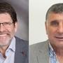 Erwin Müller, Gemeindepräsident von Bubendorf, (links) und Ernst Möckli, Gemeindepräsident von Anwil (rechts) treten Ende Juni zurück.