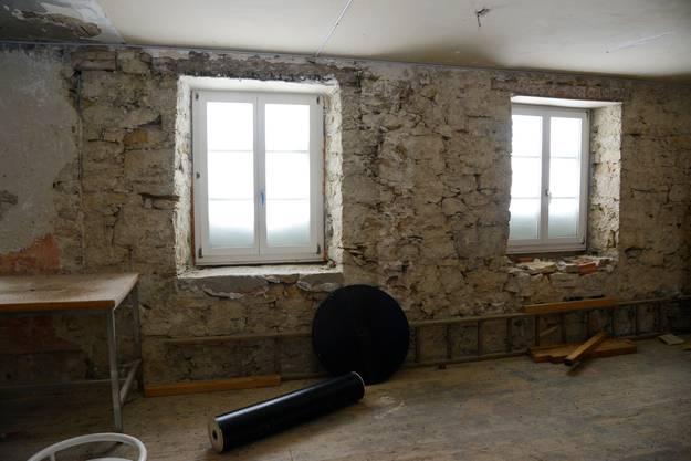 Viele Räume befinden sich quasi im Rohbau-Zustand