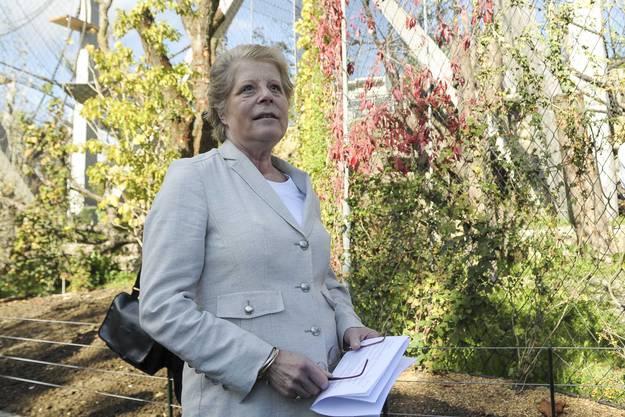 Elisabeth Simonius,Verwaltungsrat Zoo Basel bedankt sich bei den Anwesenden und Donatoren.