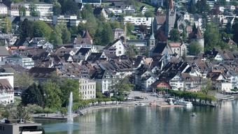 Blick auf die Stadt Zug.