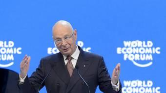 WEF-Gründer Klaus Schwab eröffnet die 46. Austragung des Weltwirtschaftsforums in Davos.