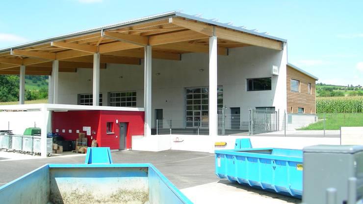 Stützpunkt des Forstbetriebs im Werkhof von Gipf-Oberfrick