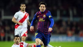 Lionel Messi auf dem Weg zum 4:0 für Barcelona