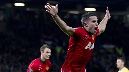 Robin van Persie schoss ManU zum Sieg gegen Arsenal.