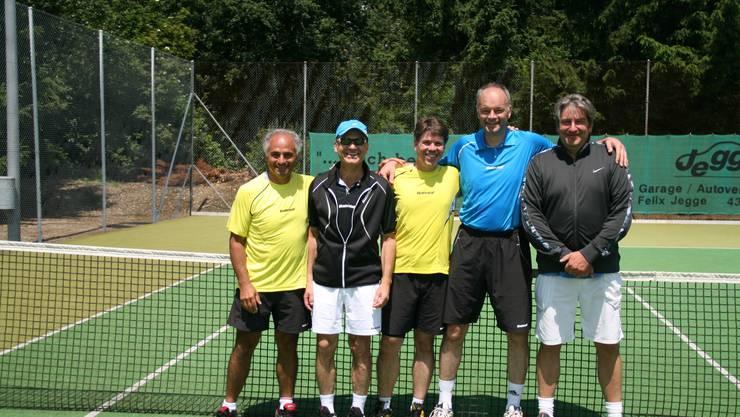 Von links nach rechts:  Antonio Zeoli, Markus Fisch, Manfred Grab, Hans von Zydowitz, Thilo Kaltenbach Es fehlen: Captain Josef Koch, Adrian Meyer, Martin Bertsch und Peter Krüger