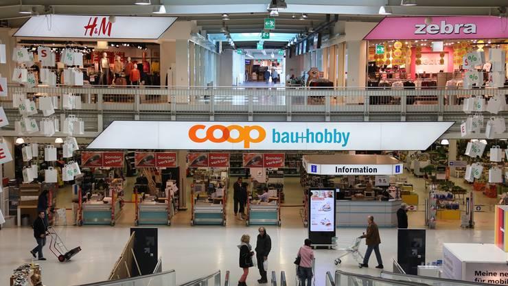 Der Coop Bau+Hobby-Fachmarkt befindet sich auf dem Areal der Migros Aare. Der Mietvertrag läuft 2018 aus.