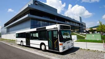Der az-Wahlkampfbus steht für die Tournee durch den Aargau bereit.
