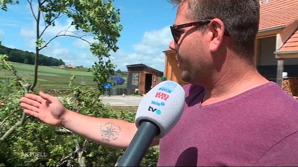 Mann in Lüterswil von umstürzendem Baum getroffen